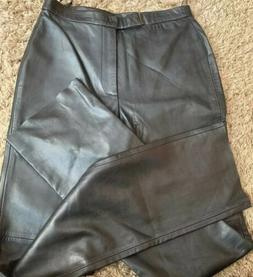 Ralph Lauren Golf Black Soft Leather Fully Lined Pants 28 x