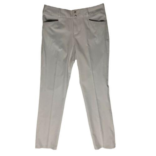 lightweight golf pants double snap pearl gray