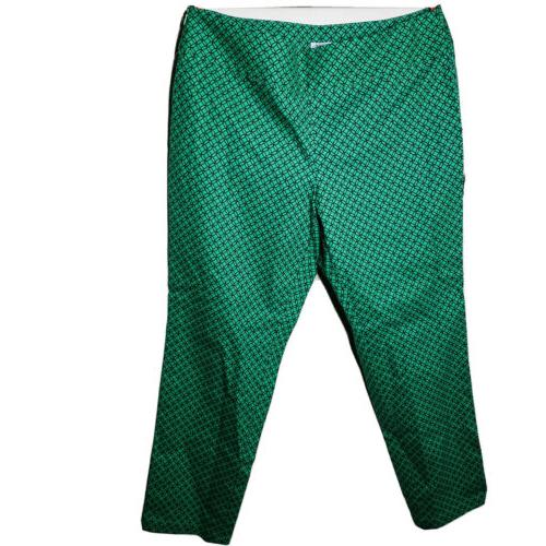 performx green printed golf pants womens size