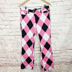 Loudmouth Pink Argyle Golf Pants Womens Size 10