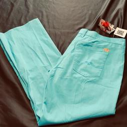 Loudmouth Womens Size 16 Made To Order Turquoise Golf Pants