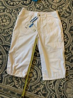 NWT DAILY SPORTS GOLF ACTIVE Capris SIZE 10 White Wind Proof