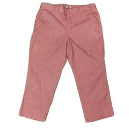 NWT Izod Performx Pink and White golf Cropped Chino Pants Wo