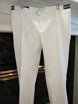 NWT WOMENS BURBERRY WHITE GOLF COTTON PANTS SIZE US 14
