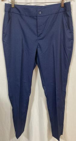NWT Greg Norman Womens Golf Pants Size 8 Stretch Blue Perfor
