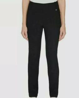NWT Callaway Womens Solid Stretch Casual Pants Trousers Blac
