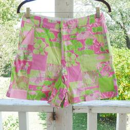 Lilly Pulitzer Pink and Green Golf Court Print Size 6 Short