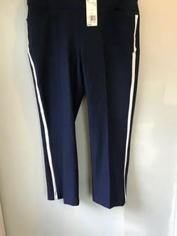 Adidas Ultimate Novelty Crop Golf Pants L Large Womens NWT $