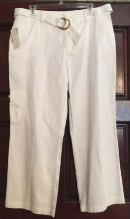 Womens Charter Club Golf Collection Size 12 NWT Whie Cropped