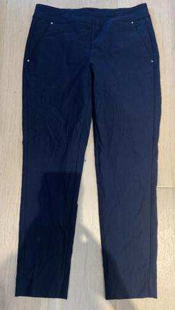 Greg Norman Womens Pull-on Pant Dark Navy Size 4