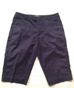 Adidas Womens Size 8 Stretch Navy Blue Cotton Blend Athletic